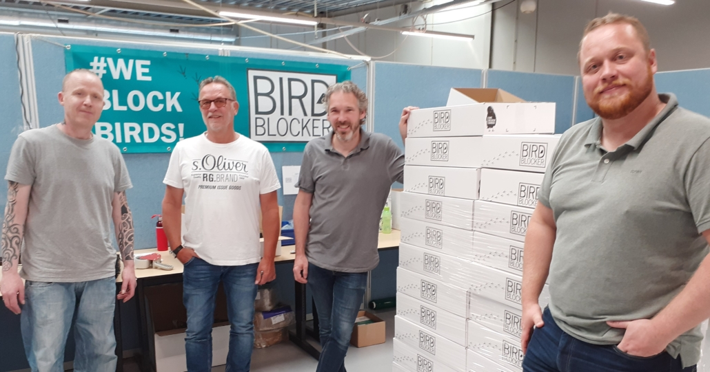 samenwerking met BirdBlocker